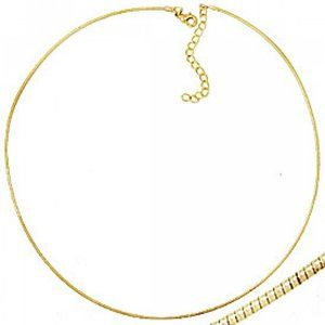 Omega necklaces heavy gold plating adjustable